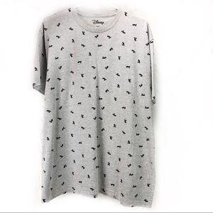 Disney Mickey Mouse print gray t-shirt Men's XL